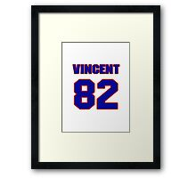 National football player Vincent Brisby jersey 82 Framed Print
