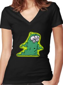 Wormy Women's Fitted V-Neck T-Shirt