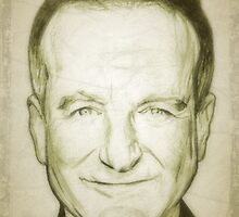 Robin Williams drawing by RobCrandall