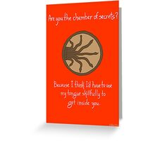 Chamber of Secrets Greeting Card