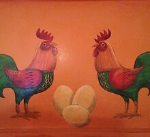 Chickens by yvonnefrewin