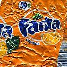 Fanta Orange - Crushed Tin by Jovan Djordjevic