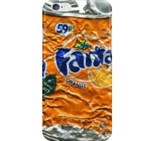 Fanta Orange - Crushed Tin iPhone Case/Skin