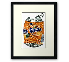 Fanta Orange - Crushed Tin Framed Print