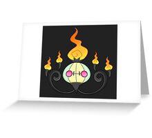 Shiny Chandelure Greeting Card