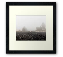Homecoming. From the fog of war to the fog of life.  Framed Print