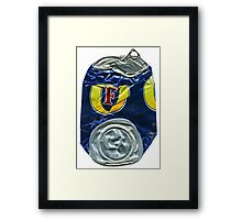 Fosters - Crushed Tin Framed Print