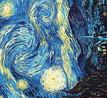 Starry Night- Vincent Van Gogh by gemgiraffe