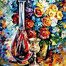 Flowers And Wine — Buy Now Link - www.etsy.com/listing/220235358 by Leonid  Afremov