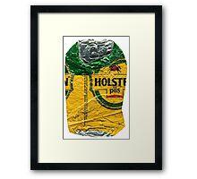 Holsten - Crushed Tin Framed Print