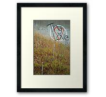 Try Love Framed Print