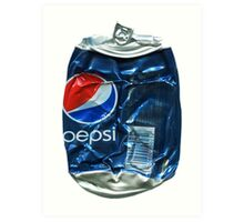 Pepsi Cola - Crushed Tin Art Print