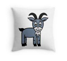Comic goat Throw Pillow