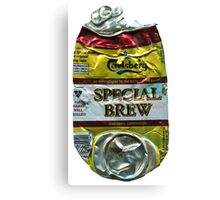 Special Brew - Crushed Tin Canvas Print