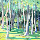 Trees at  Beechmont Lookout by Virginia McGowan