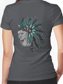 Steampunk Chief Women's Fitted V-Neck T-Shirt