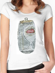 Stella Artois - Crushed Tin Women's Fitted Scoop T-Shirt
