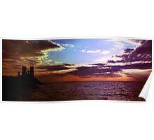 Reculver Sunset 2 Poster