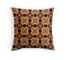 Brown sugar, square design, original textile art by Alice Kelly Throw Pillow