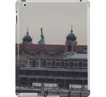 Ellis Island, Statue of Liberty, View from Liberty State Park, New Jersey iPad Case/Skin