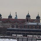Ellis Island, Statue of Liberty, View from Liberty State Park, New Jersey by lenspiro