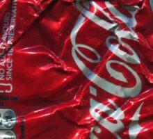 Coca Cola - Crushed Tin - 2 Sticker