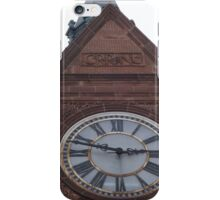 Classic Clock, Central Railroad of New Jersey Terminal, Built 1889, Liberty State Park, New Jersey iPhone Case/Skin