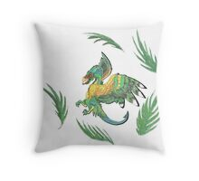 """Ancient Wings"" Quetzalcoatl Feathered Dragon Throw Pillow"