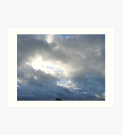 Clouded Sky - Shining Through Art Print