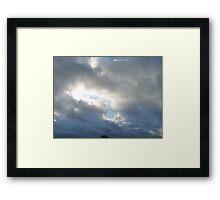 Clouded Sky - Shining Through Framed Print