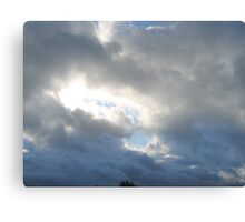 Clouded Sky - Shining Through Canvas Print