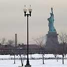 Statue of Liberty, View from Liberty State Park, New Jersey  by lenspiro