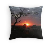 Sunset at Dog Rocks Throw Pillow