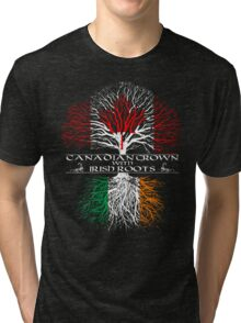 Canadian Grown with Irish Roots Tri-blend T-Shirt