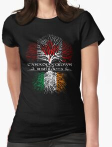 Canadian Grown with Irish Roots Womens Fitted T-Shirt