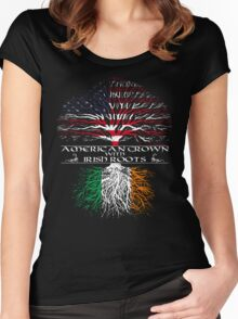 American Grown with Irish Roots Women's Fitted Scoop T-Shirt