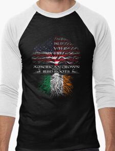 American Grown with Irish Roots Men's Baseball ¾ T-Shirt