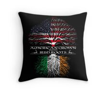 American Grown with Irish Roots Throw Pillow