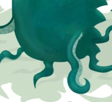 Octogrr Alien Holiday Sticker