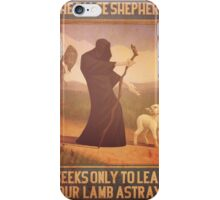 BioShock Infinite – The False Shepherd Seeks Only To Lead Our Lamb Astray Poster iPhone Case/Skin