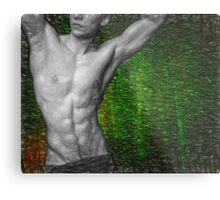 Towel Boy v2 Abs attitude Metal Print