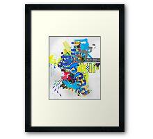 MIX MY HEAD Framed Print