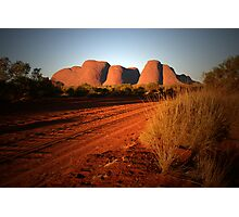 Sunset on Kata Tjuta Photographic Print