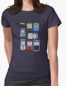 Pixel History (BlackBerry) Womens Fitted T-Shirt
