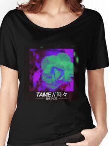 T A M E // M I D N I G H T  F L O W E R V2 Women's Relaxed Fit T-Shirt