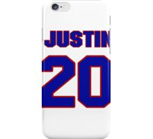 National football player Justin Tryon jersey 20 iPhone Case/Skin