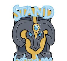Stand Behind Me! Braum Shield by mikecollective