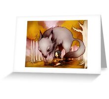 Wolf Lullaby  Greeting Card