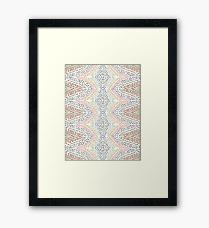 gold rainbow Framed Print