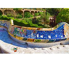 Gaudi's Park Guell - Impressions Of Barcelona Photographic Print